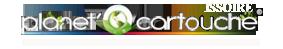 Logo planet cartouche issoire (Professionnels spécialisés dans la vente de cartouches d'encre neuves ou remanufacturées, toners et recharges de cartouches vides ) partenaire du team volkanik endurance