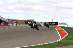 Sortie de virage de sergio nangeroni kawasaki zx-10r speer racing circuit d'aragon 2012