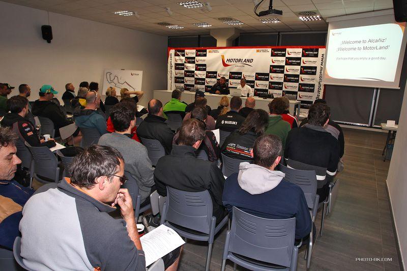 Breifing du speer racing 2012 circuit d'aragon