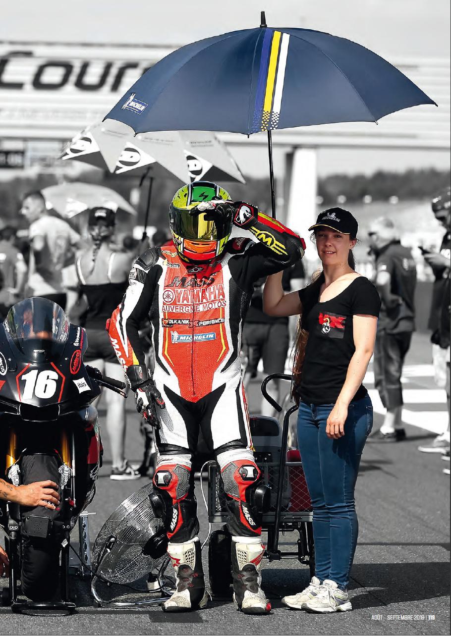 Deuxieme page article sur sergio nangeroni du magazine sport bike SB113 aout/septembre 2018 avec son umbrella volka'girl ANNE
