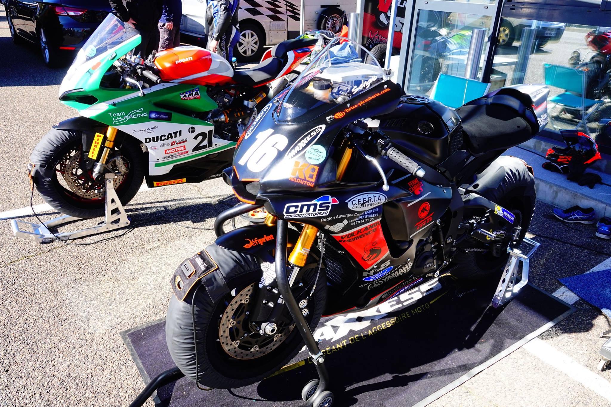 yamaha R1 2018 préparé par CMS motorsport engagé en FSBk avec le pilote sergio nangeroni